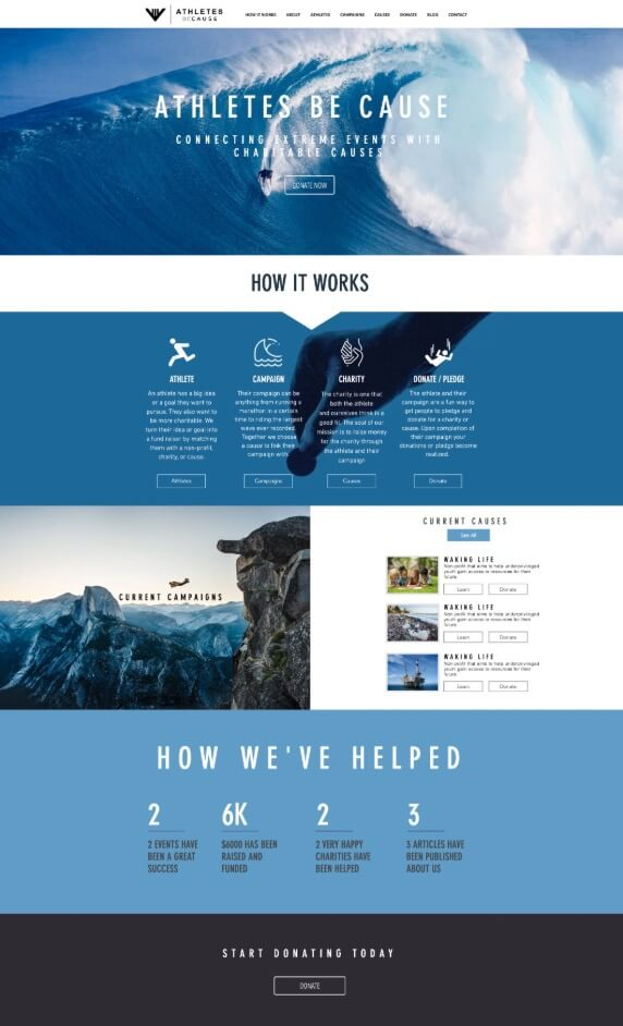 Web Design for Athletes Be Cause