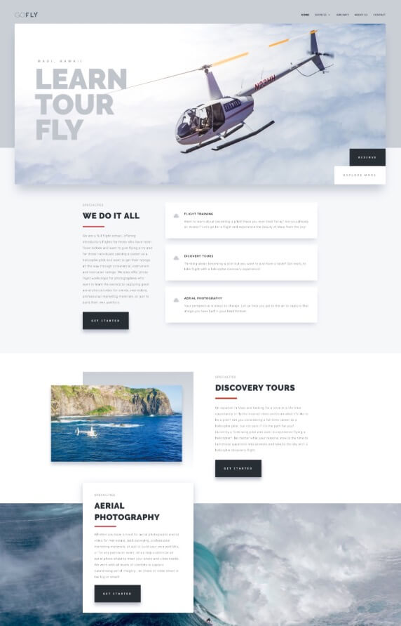 Web Design for Go Fly Maui LLC